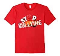 Stop Bullying Cute Unique Anti Bullying Gift Shirts Red