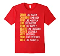 Dream Like Martin Inspirational Black History T-shirt Red