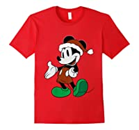 Disney Christmas Mickey Mouse T Shirt Red