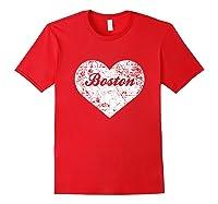 I Love Massachusetts Shirt Funny Cute Boston Gift Souvenir Red