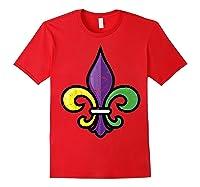 Fleur De Lis Mardi Gras Cute Fat Tuesday Funny Gift Shirts Red