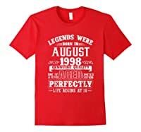 August 1998 20th Birthday Gift Shirt 20 Years Old Red