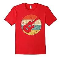 Guitaris Retro Acoustic Guitar Shirts Red