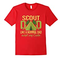 Scout Dad Cub Leader Boy Camping Scouting Gift Shirts Red