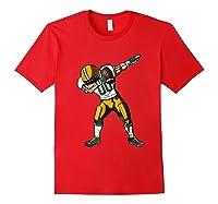Football Dabbing T Shirt Funny Green Yellow Red