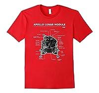 Lunar Module First Moon Landing 1969 T Shirt Red