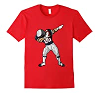 Football Dabbing T Shirt Funny Blue Gray Red Red