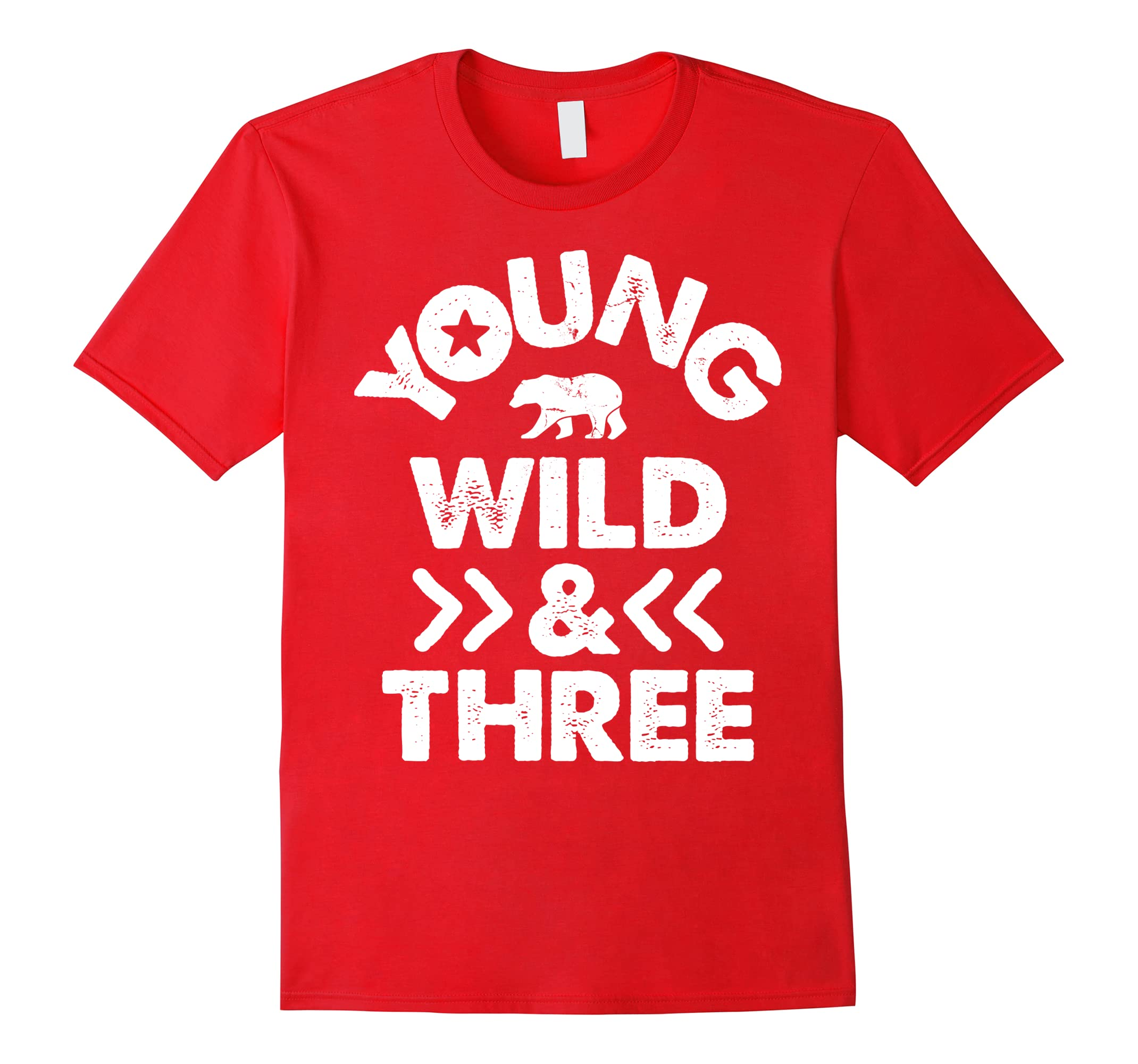 Young Wild And Three 3rd Birthday Party 3 Years Old T-Shirt-RT