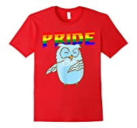 Flossing Owl Lesbian Bisexual Gay Lgbt Pride Gifts Shirts Red