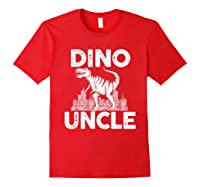 Dino-uncle Dinosaur Family Matching T-shirts Red