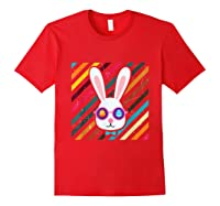 Funny Techno Rabbit Easter Edition Shirt Easter Celebration Red