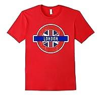 London Uk T Shirt Fun English British City Travel Gift Red