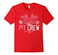 Racing Car Sister Racer Sister Pit Crew Gift Shirts Red