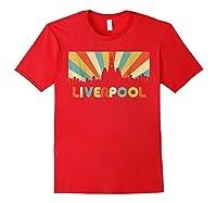 Liverpool T Shirt England Vintage Skyline Souvenirs Shirt Red