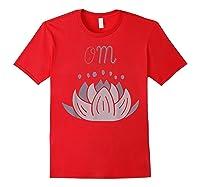 Lotus Flower Meditation Mantra Om In Lavender Pinks Shirts Red