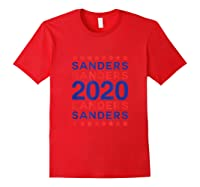 Sanders 2020 Democrat Party Campaign Usa President Election T-shirt Red