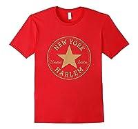 New York City Harlem Nyc Usa United States T Shirt Red
