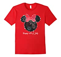 Disney Minnie Fire Works T Shirt Red