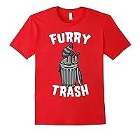 Furry Trash Bandit Raccoon Fandom Furries Tail T Shirt Gifts Red