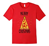 Merry Crustmas Pizza Pizza Lover Christmas Tree Shirts Red