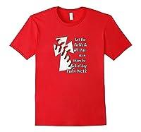 Christian Bible Verse Baseball Shirt Red