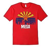 Mesa Arizona T Shirt Az Group City Silhouette Flag Tee Gift Red