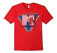 Pink Stripes Logo 90's Retro Design Graphic Shirts Red