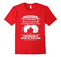 God Blessed Me With An Angel My Freaking Awesome Daughter Shirts Red