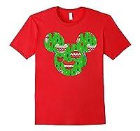 Disney Mickey Christmas Ornats T Shirt Red