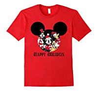 Disney Happy Holidays Group T Shirt Red