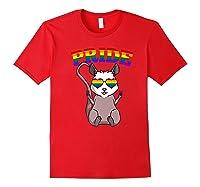 Lgbt Possum Gay Pride Rainbow Lgbtq Cute Gift Opossum Premium T-shirt Red