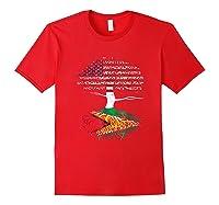 American Heart Guyanese Roots Patriot Usa Guyana Flag Shirts Red