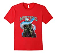 Spider Man Far From Home Mysterio Stance Shirts Red