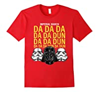S Darth Vader Imperial March Graphic Shirts Red