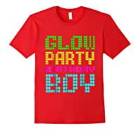 Glow Party Birthday Boy Party Gift Neon Retro Shirts Red
