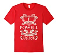 Team Powell Last Name Gifts Vintage Legend Family Tshirt Red