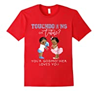 Godmother Gender Reveal Touchdown Tutu Baby Shower Shirts Red