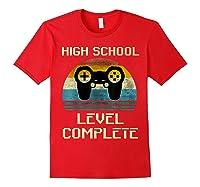 2019 High School Graduation Shirt Gamer Graduation Gifts-min Red
