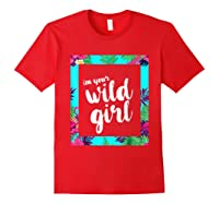 Funny Free Woman T Shirt Frame Of Flora And Fauna Red