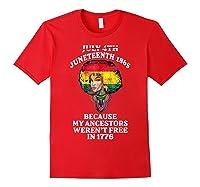 Ancestors Black African American Flag T Shirt Red