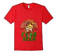 R The Deer Gift For Milwaukee Basketball Bucks Fans Fire Shirts Red