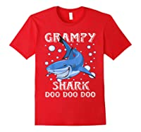 Grampy Shark Shirt Fathers Day Gift T-shirt Red
