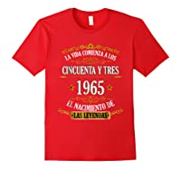 Birthday T Shirt Gift For Latino Born In 1965 Red