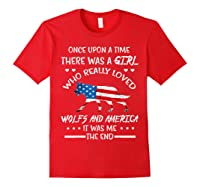 Once Upon A Time Wolf America 4th Of July T Shirt Gifts Red