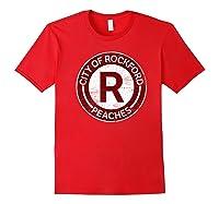 Baseball Tshirt Rockford Peaches Shirt Feminist Graphic Tees Red