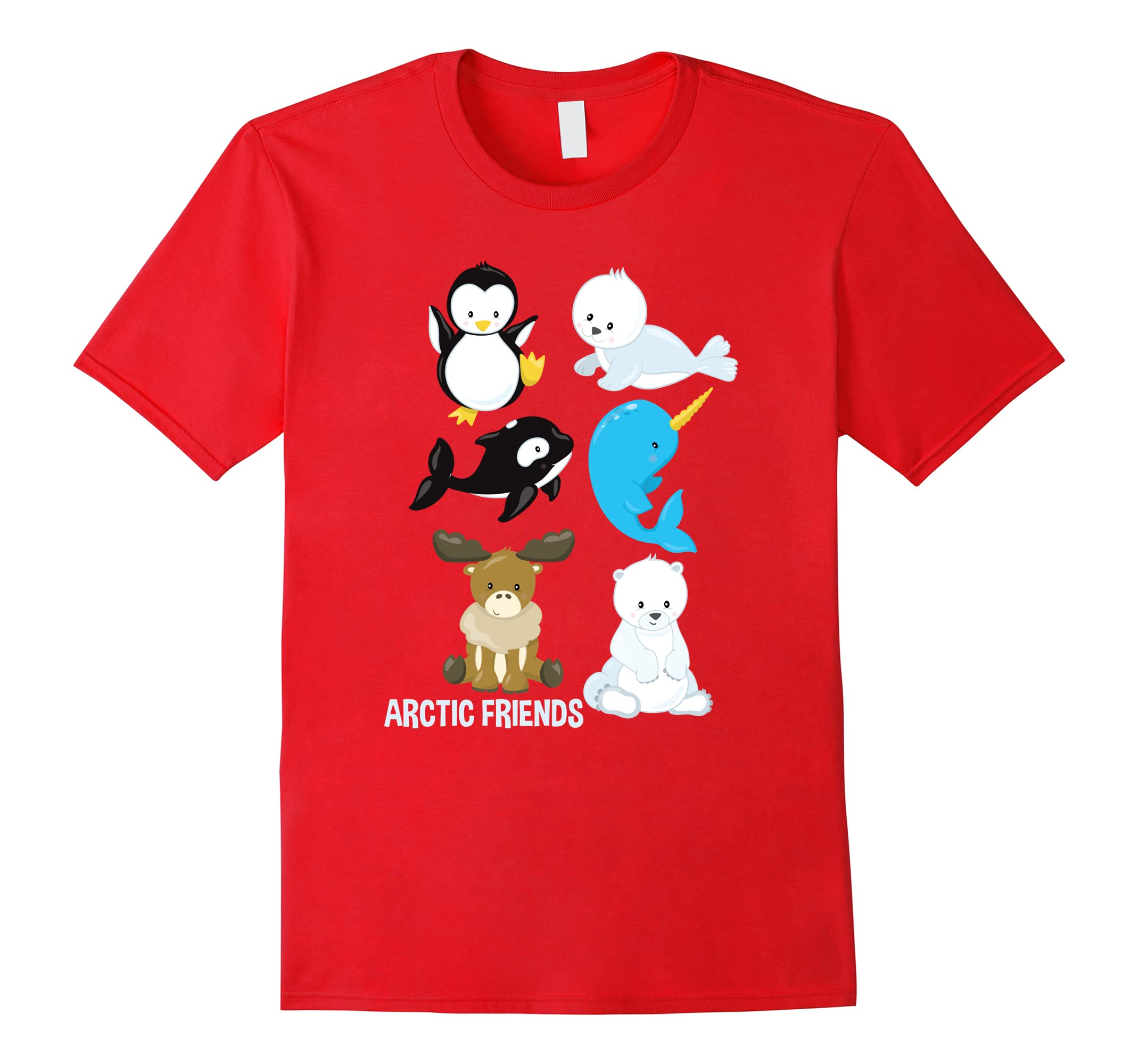 Arctic Animals Penguin Seal Whale Polar Bear Narwhal T-Shirt-ah my shirt one gift