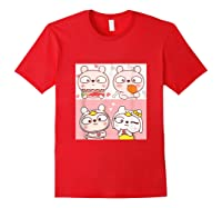Super Cute Silly Rabbit Love Story Unisex Humor T Shirt Red
