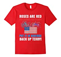 Put It In Reverse Back Up Terry Fireworks 4th Of July Shirts Red