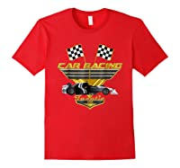 Car Racing Fanatic 500 Miles T Shirt Golden Edition Red