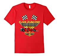 Car Racing Fanatic 500 Miles T Shirt Red Car Edition Red